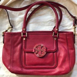Red Tory Burch Small Amanda bag
